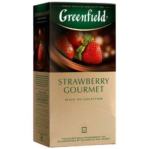 Черный чай Greenfield Strawberry Gourmet 25 пак.*1,5 гр