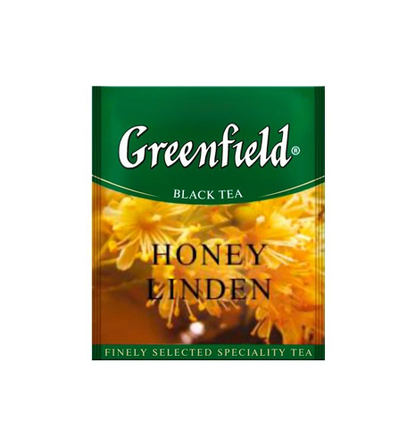 Черный чай Greenfield Honey Linden 100 пак.*1,5 гр