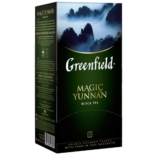 Черный чай Greenfield Magic Yunnan 25 пак.*2 гр