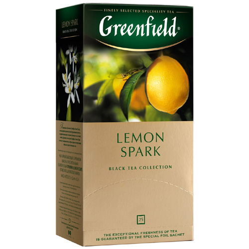 Черный чай Greenfield Lemon Spark 25 пак.*1,5 гр