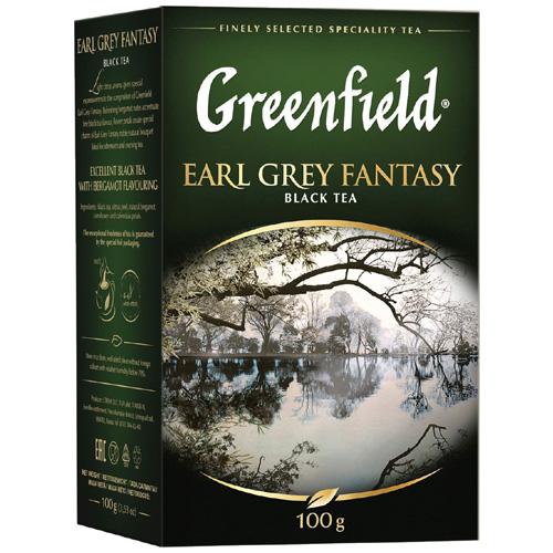 Черный чай Greenfield Earl Grey Fantasy 100 гр
