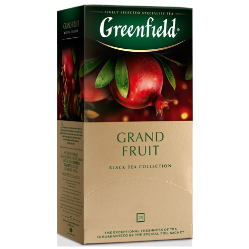 Черный чай Greenfield Grand Fruit (с гранатом) 25 пак.*1,5 гр