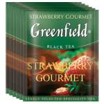 Черный чай Greenfield Strawberry Gourmet 100 пак.*1,5 гр