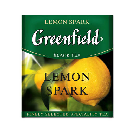 Черный чай Greenfield Lemon Spark 100 пак.*1,5 гр
