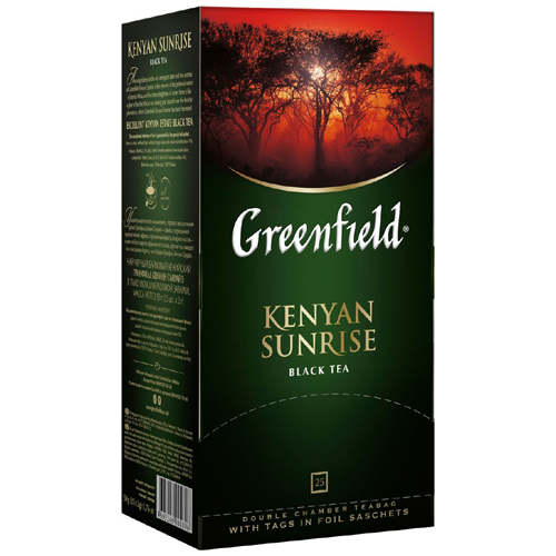 Черный чай Greenfield Kenyan Sunrise 25 пак.*2 гр