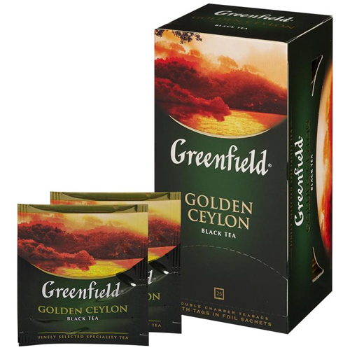 Черный чай Greenfield Golden Ceylon 25 пак.*2 гр