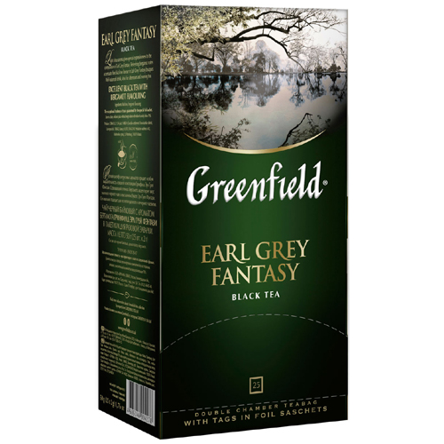 Черный чай Greenfield Earl Grey Fantasy 25 пак.*2 гр