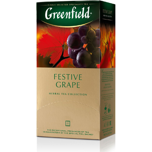 Травяной чай Greenfield Festive Grape (каркаде, виноград) 25 пак.*2 гр